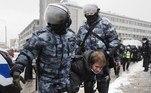 Navalnaya já havia sido detida nos protestos do dia 23 de janeiro, nos quais mais de 4 mil pessoas foram presas