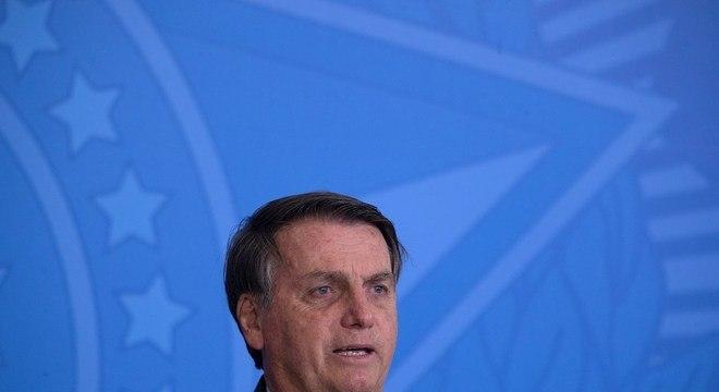 O presidente Jair Bolsonaro, que prorrogou isenção do IOF