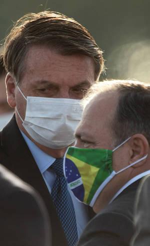 Jair Bolsonaro e Eduardo Pazuello