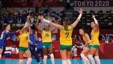 Brasil vira contra russas e está na semi do vôlei feminino em Tóquio