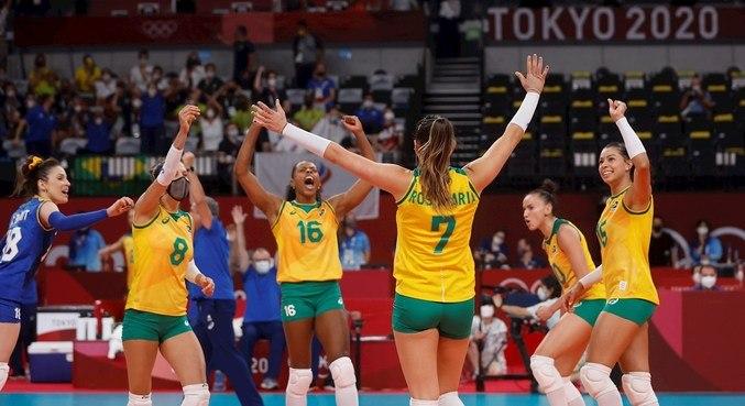 Brasil venceu o Comitê Olímpico Russo nesta quarta-feira (4)
