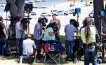 Lake Piru (United States), 10/07/2020.- Ventura Sheriff Department Captain Eric Buschow (C) holds a press conference as searches continue for missing US actress Naya Rivera after her disappearance while boating with her young son in Los Padres National Forest, California, USA, 10 July 2020. Rivera starred in the 'Glee' television show, and went missing after renting a boat and going out on the lake with her four-year-old son on 08 July. (Estados Unidos) EFE/EPA/ETIENNE LAURENT