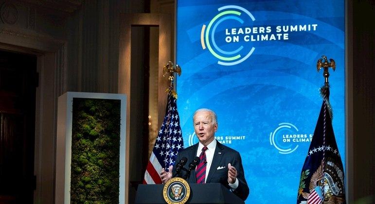 Joe Biden na abertura da Cúpula do Clima: meta ousada na redução da emissão de CO2