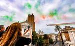 Rome (Italy), 02/06/2021.- Frecce Tricolori acrobatic team flies over the celebrations of Republic Day, in Rome, Italy, 02 June 2021. The anniversary marks the proclamation of the Italian Republic in 1946. (Italia, Roma) EFE/EPA/FABIO FRUSTACI