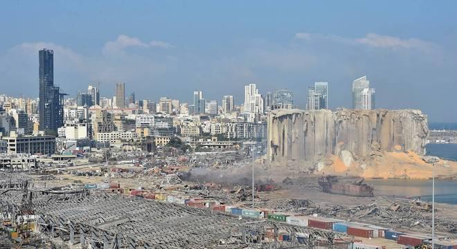 Destruição provocada pela explosão em Beirute
