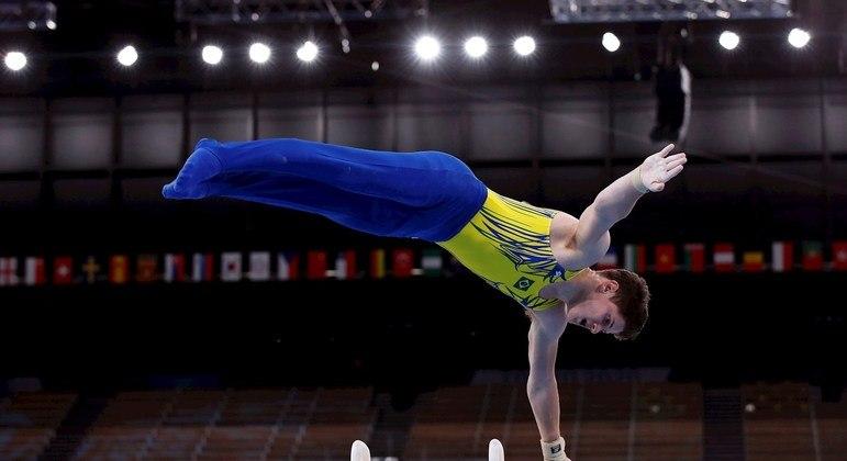 Diogo Soares, de 19 anos, é estreante na seleção brasileira de ginástica e na Olimpíada