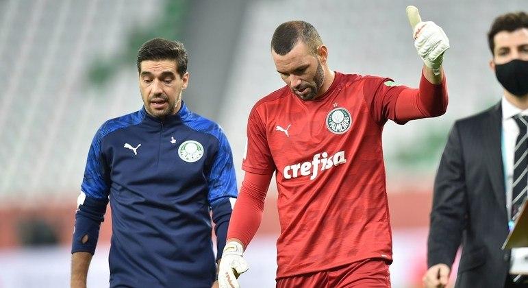 Abel Braga e Weverton. Treinador tem de agradecer ao goleiro. Derrota poderia ser muito maior