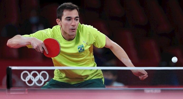 Hugo Calderano alcançou classificação inédita para o Brasil no tênis de mesa