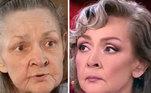 A atrizIrina Akulova também passou pelas mãos do maquiador, e o resultado foi uma aparência digna de tapete vermelho