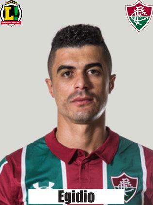 EGÍDIO - 4,5 - Sofreu na marcação de Arthur no lado esquerda da defesa do Fluminense, dando espaço nas costas da zaga. Falhou no segundo gol do Bragantino ao se enrolar com Dodi na origem do lance. Apoiou pouco o ataque.