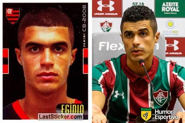 Egídio jogou pelo Flamengo em 2008. Inicia o Brasileirão 2021 com 34 anos e jogando pelo Fluminense.