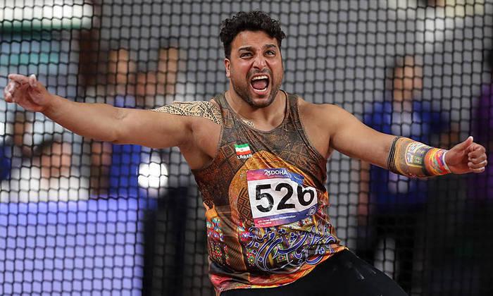 Ehsan Haddadi, atleta do arremesso de disco, foi um dos infectados pelo coronavírus.