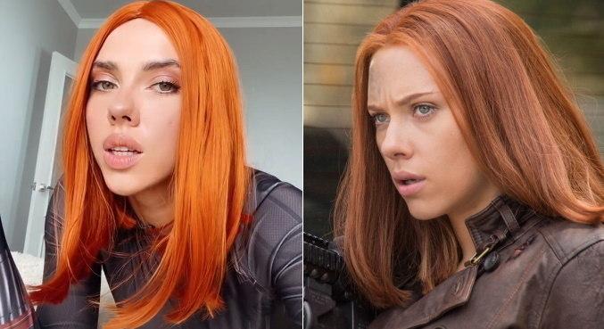 Ekaterina Shumskaya faz sucesso no TikTok por se parecer com Scarlett Johansson