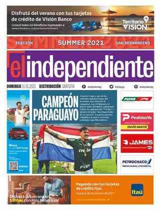 El Independiente - Diário paraguaio deu protagonismo a Gustavo Gómez, campeão pelo Palmeiras e nascido no país.