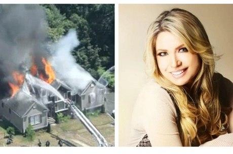 Elaine de Jesus: casa foi consumida pelo fogo em Saugus