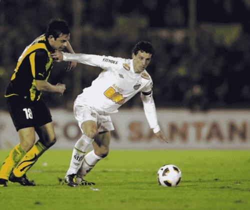 Elano - Santos - Ídolo santista, atuava em sua segunda passagem pelo clube, em 2011, que encerrou-se em 2012, quando o meia transferiu-se ao Grêmio.