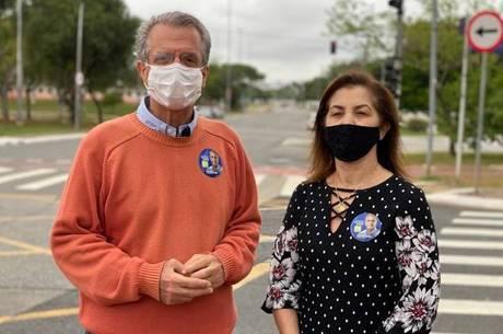 Matarazzo e a vice, Marta Costa, estiveram na zona norte