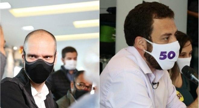 Bruno Covas e Guilherme Boulos terão encontro em debate nesta quinta (19)