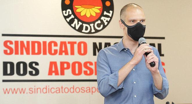 Bruno Covas destacou ações em benefício dos idosos durante ato em sindicato