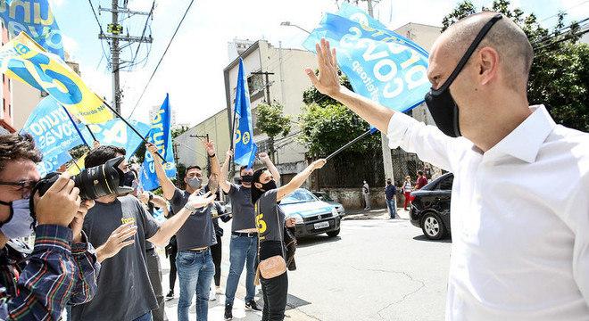 Bruno Covas recebeu apoio de sindicalistas nesta sexta-feira (20)
