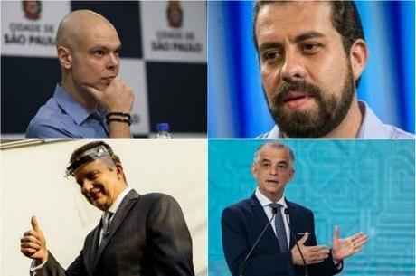 Candidatos Covas, Boulos, Russomanno e França