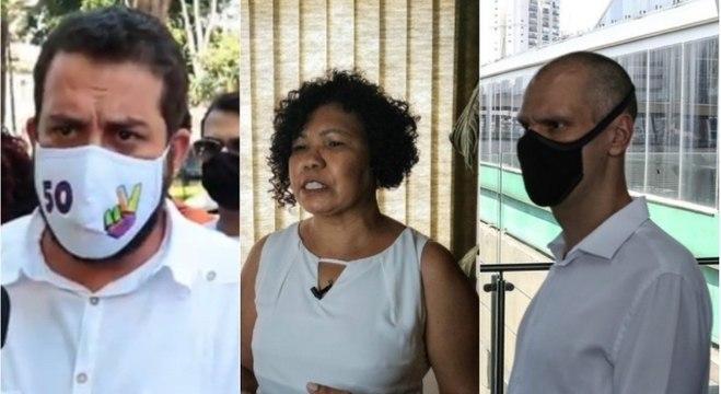 Boulos, Vera Lúcia e Covas cumpriram agenda de campanha nesta terça-feira (13)