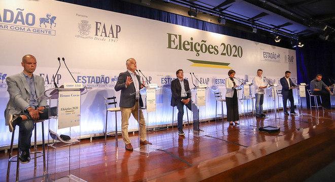 Candidatos à Prefeitura de SP participaram de debate nesta terça-feira (10)