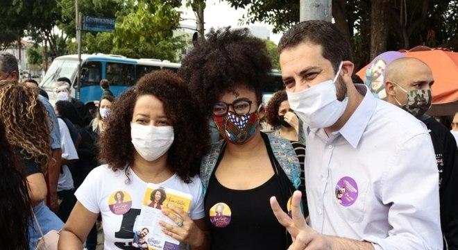 Guilherme Boulos (PSOL) conversou com eleitores na zona sul