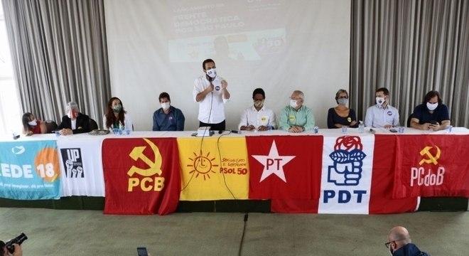 Guilherme Boulos recebeu apoio de partidos de esquerda nesta sexta-feira (20)