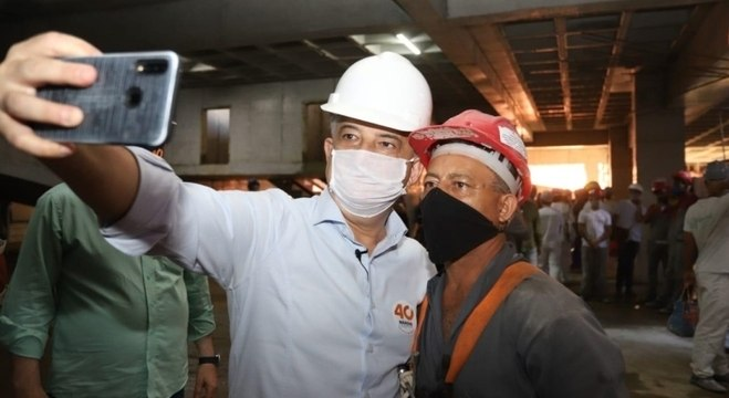 Márcio França se encontrou com trabalhadores da construção civil