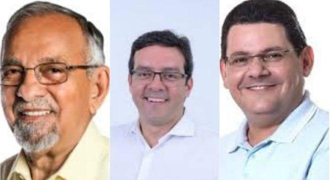 Em Macapá, Josiel (à dir.) lidera com 20%; Capi (esq.) e Dr. Furlan (centro) têm 14%