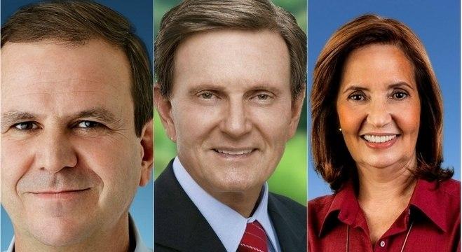 Paes, Crivella e Martha são os três primeiros colocados no Rio, segundo Ibope