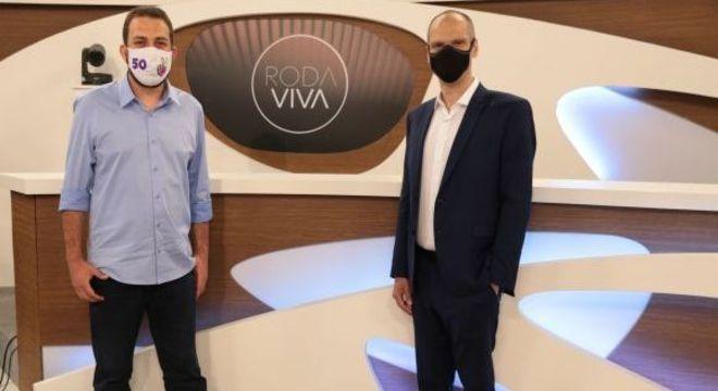 Boulos e Covas foram sabatinados no programa Roda Vida, da TV Cultura