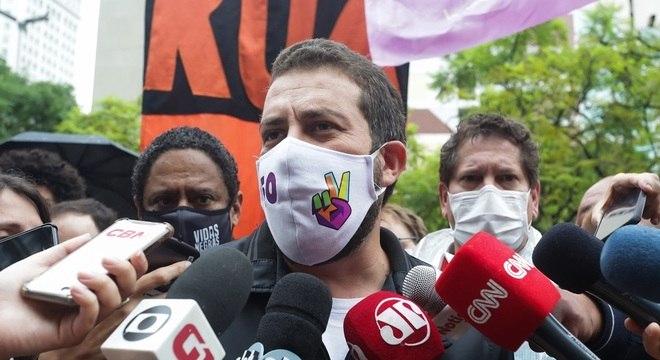 Guilherme Boulos, candidato do PSOL à prefeitura de SP