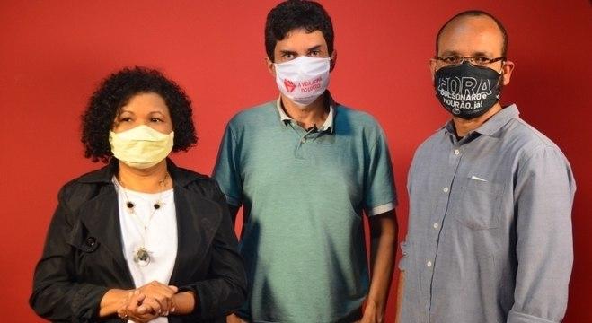 Vera se reuniu com o candidato a vereador Lauro Fiaes e o sindicalista Altino Prazeres