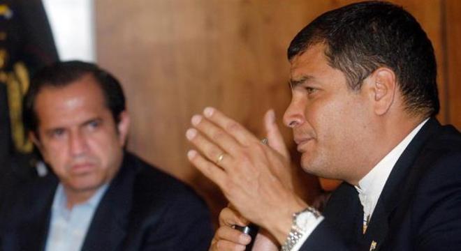 No período em que esta foto foi tirada, Correa era presidente do Equador
