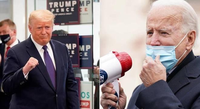 Donald Trump e Joe Biden tiveram agendas nesta terça-feira de votação