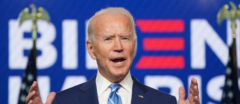 Mensagem de Joe Biden foi transmitida do comitê de campanha democrata no Delaware