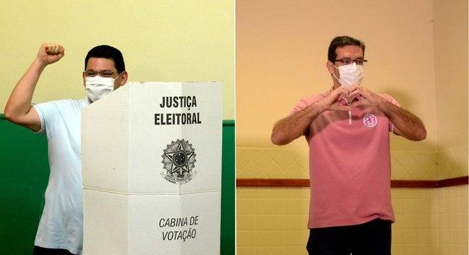 Josiel e Dr Furlan votaram neste domingo no segundo turno das eleições municipais de Macapá