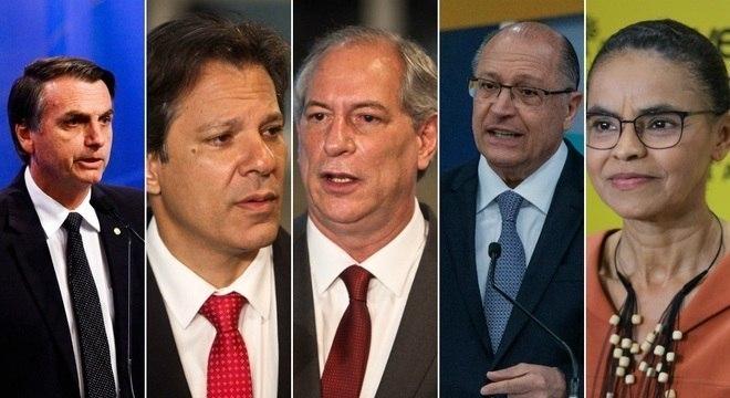 Bolsonaro, Haddad, Ciro, Alckmin e Marina entram na reta final da campanha