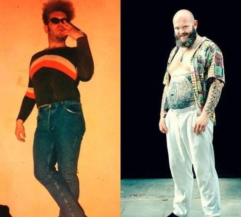 Assim como fez o intérprete de Moscou, Darko mostrou uma foto antiga. 'Eu realmente gosto de ficar mais velho, à esquerda eu com 20 anos de idade, e à direita, o mesmo Darko, 20 anos depois ... eu não vejo a diferença, você vê?'