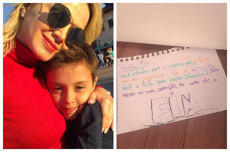 Arthur escreveu carta carinhosa para a mãe