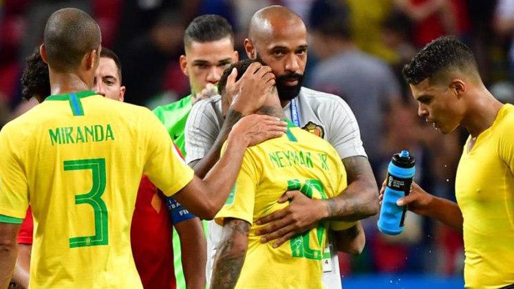 Eliminação na Copa de 2018 - Com Tite, a Seleção Brasileira resgatou um bom futebol. Mas o sonho do hexa acabou nas quartas de final na Rússia. O Brasil foi eliminado pela Bélgica, que abriu 2 a 0 no primeiro tempo e segurou a pressão brasileira no fim, vencendo por 2 a 1.