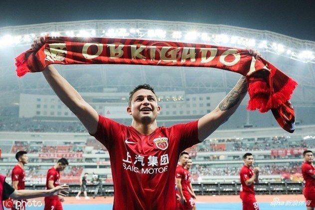 Elkeson - Posição: Atacante - Idade: 32 anos - Nacionalidade: Brasileiro naturalizado chinês - Período no Guangzhou FC: 01/01/2013 até 21/01/2016 e 09/07/2019 até atualmente