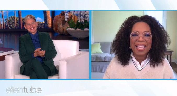 Oprah demonstrou apoio para Ellen Degeneres, que anunciou o fim de seu programa