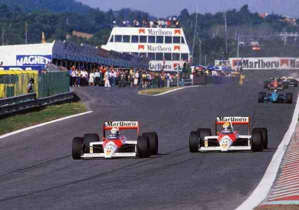 Em 1988, Alain Prost venceu após duelo agressivo com Ayrton Senna. A corrida marcou o início da má relação dos pilotos da McLaren