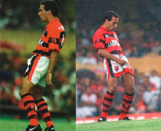 Em 1995, quando jogava pelo Flamengo, Edmundo respondeu às provocações dos vascaínos com gesto nada delicado