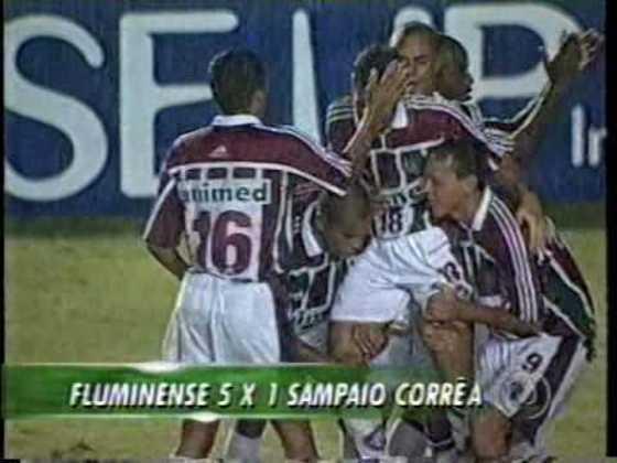 Em 2002, pela Copa do Brasil, o Fluminense perdeu para o Sampaio Corrêa por 2 a 1 fora de casa no jogo de ida, mas venceu bem, por 5 a 1, na volta e avançou