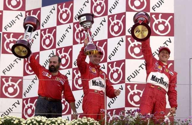 Em 2002, Rubens Barrichello terminou o GP do Japão, última corrida do ano, em segundo. Ali foi vice-campeão, situação que se repetiu em 2004