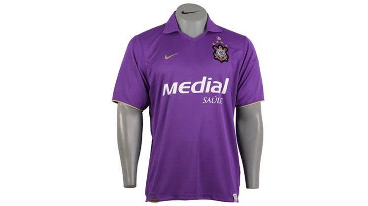 Em 2008, a camisa 3 do Timão era completamente roxa. Homenagem a todo corintiano roxo.